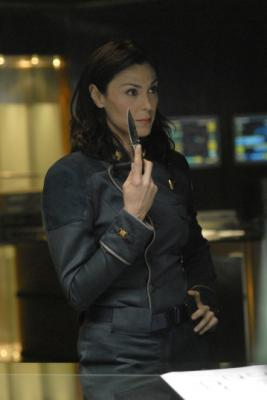 "BATTLESTAR GALACTICA - Michelle Forbes as Admiral Cain in ""Razor"""