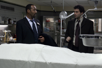 "LAW AND ORDER - Jesse L. Martin as Detective Ed Green and Jeremy Sisto as Detective Cyrus Lupo in ""Driven"""