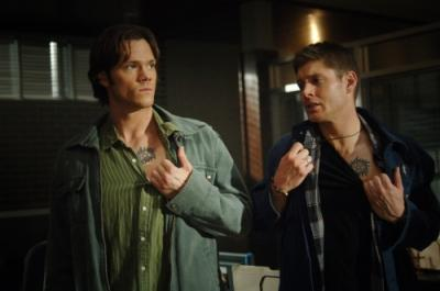 "SUPERNATURAL - Jared Padalecki as Sam Winchester and Jensen Ackles as Dean Winchester in ""Jus In Bello"""