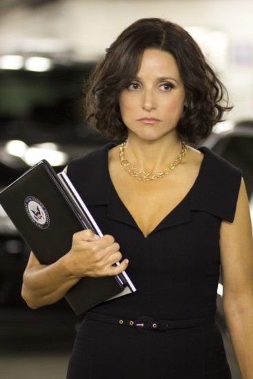 Veep HBO With Julia Louis Dreyfus  I'm going to go out on a limb and pick a dark horse. Julia Louis Dreyfus.