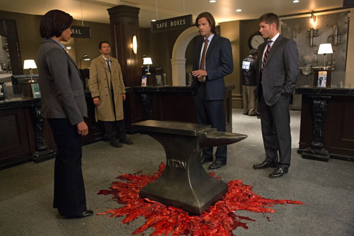 Castiel, Sam and Dean - Supernatural