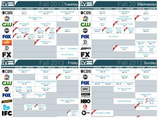 Fall Daily Tv Schedules