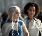 Emilia Clarke as Daenerys Targaryen, Nathalie Emmanuel as Missandei Game of Thrones