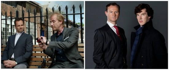 Sherlock and Mycroft in Elementary and Sherlock